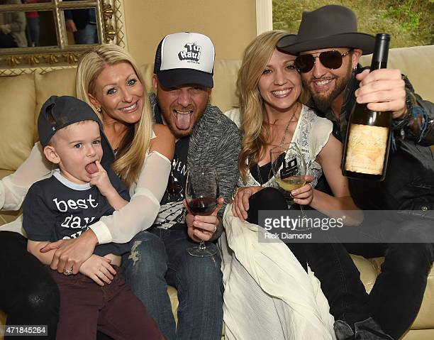 SonKaitlyn Lucas Chris Lucas Kristen White and Preston Brust attend 'Shipwrecked' signature wine tasting recepting on April 30 2015 in Brentwood...