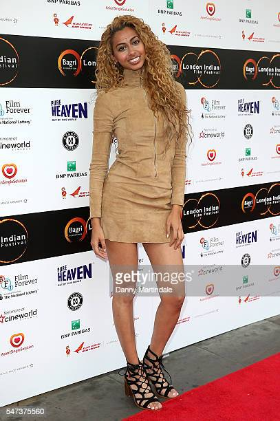 Sonna Rele attends the London Indian film festival opening night at Cineworld Cinemas on July 14 2016 in London England
