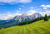 Sonnenspitze and Mieminger Mountains at Lermoos, Tyrol, Austria