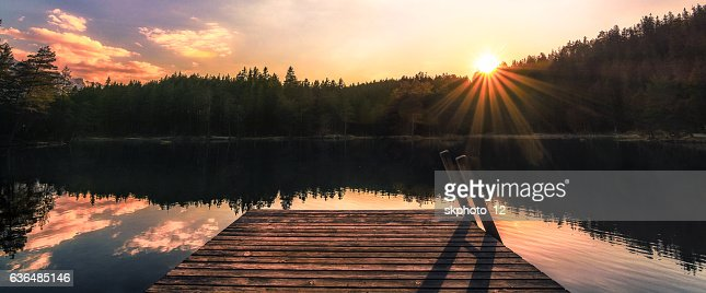 Sonnenuntergangspanorama : Stock Photo