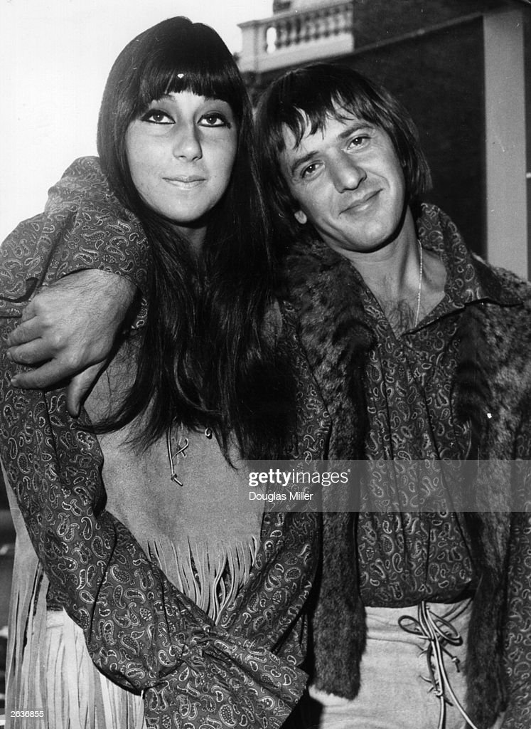 Sonny and Cher on their trip to Britain just after getting married