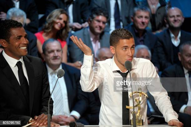 Sonny ANDERSON / Eden HAZARD Meilleur Joueur de Ligue 1 Trophee UNFP 2011