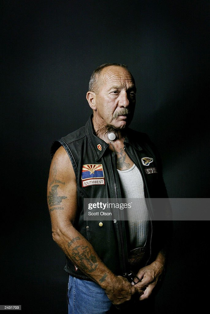 Sonny Barger, founder of the Oakland, California charter of the Hells Angels motorcycle club, attends a party August 23, 2003 in Quincy, Illinois. The party was hosted by the Midwest Percenters motorcycle club in Quincy.