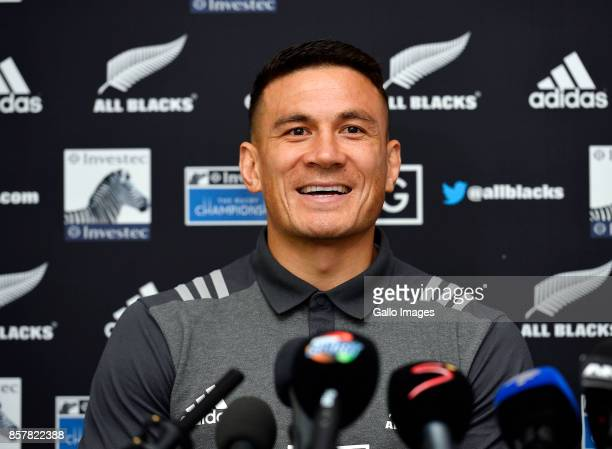 Sonny Bill Williams during the New Zealand national rugby team squad announcement at The Vineyard Hotel on October 05 2017 in Cape Town South Africa