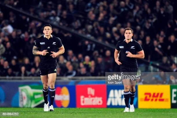 Sonny Bill Williams / Israel Dagg France / Nouvelle Zelande Coupe du Monde de Rugby 2011 Eden Park Auckland