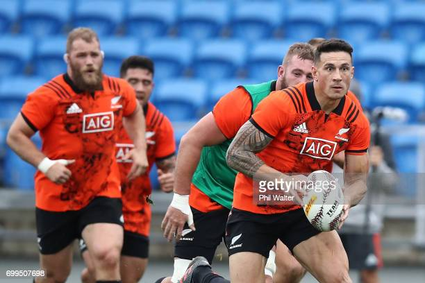 Sonny Bill Williams of the All Blacks during a New Zealand All Blacks training session at Trusts Stadium on June 22 2017 in Auckland New Zealand