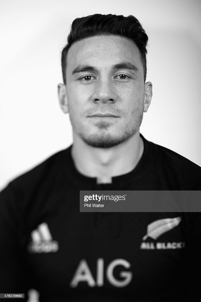 Sonny Bill Williams of the All Blacks poses during the New Zealand All Blacks portrait session at The Spencer on Byron Hotel on June 24, 2015 in Auckland, New Zealand.