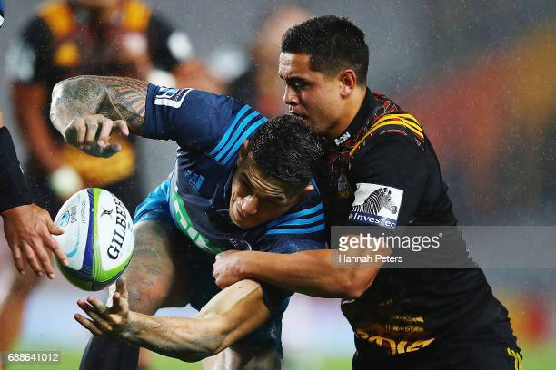 Sonny Bill Williams of the Blues loses the ball during the round 14 Super Rugby match between the Blues and the Chiefs and Eden Park on May 26 2017...