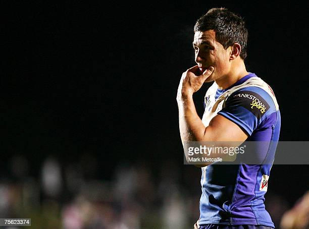 Sonny Bill Williams of the Bulldogs looks on during the round 15 NRL match between the Manly Warringah Sea Eagles and the Bulldogs at Brookvale Oval...