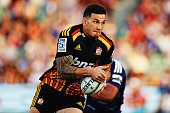 Sonny Bill Williams of the Chiefs charges forward during the round one Super Rugby match between the Blues and the Chiefs at QBE Stadium on February...