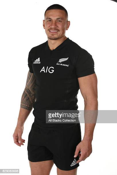Sonny Bill Williams poses during a New Zealand All Blacks headshots session at The Heritage Hotel on August 10 2017 in Auckland New Zealand