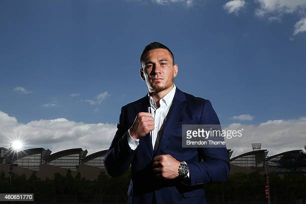 Sonny Bill Williams poses for a photograph following a press conference at Allphones Arena on December 19 2014 in Sydney Australia