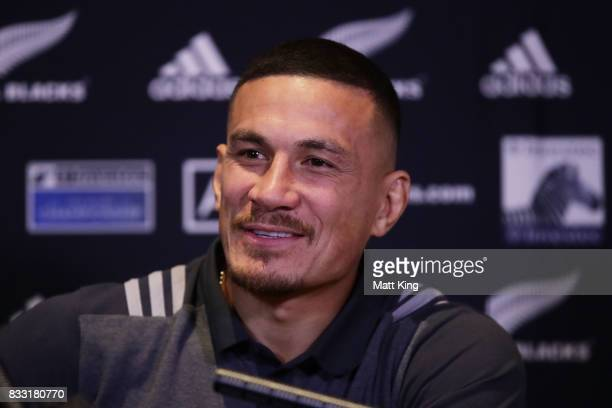 Sonny Bill Williams speaks to the media during a New Zealand All Blacks press conference at The Intercontinental on August 17 2017 in Sydney Australia