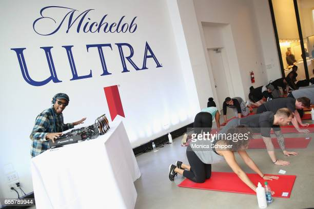 Sonny Daze spins during The Big Spring Event with Michelob ULTRA for their launch of a free dedicated skill on Amazon Alexa called ULTRA 95 just in...