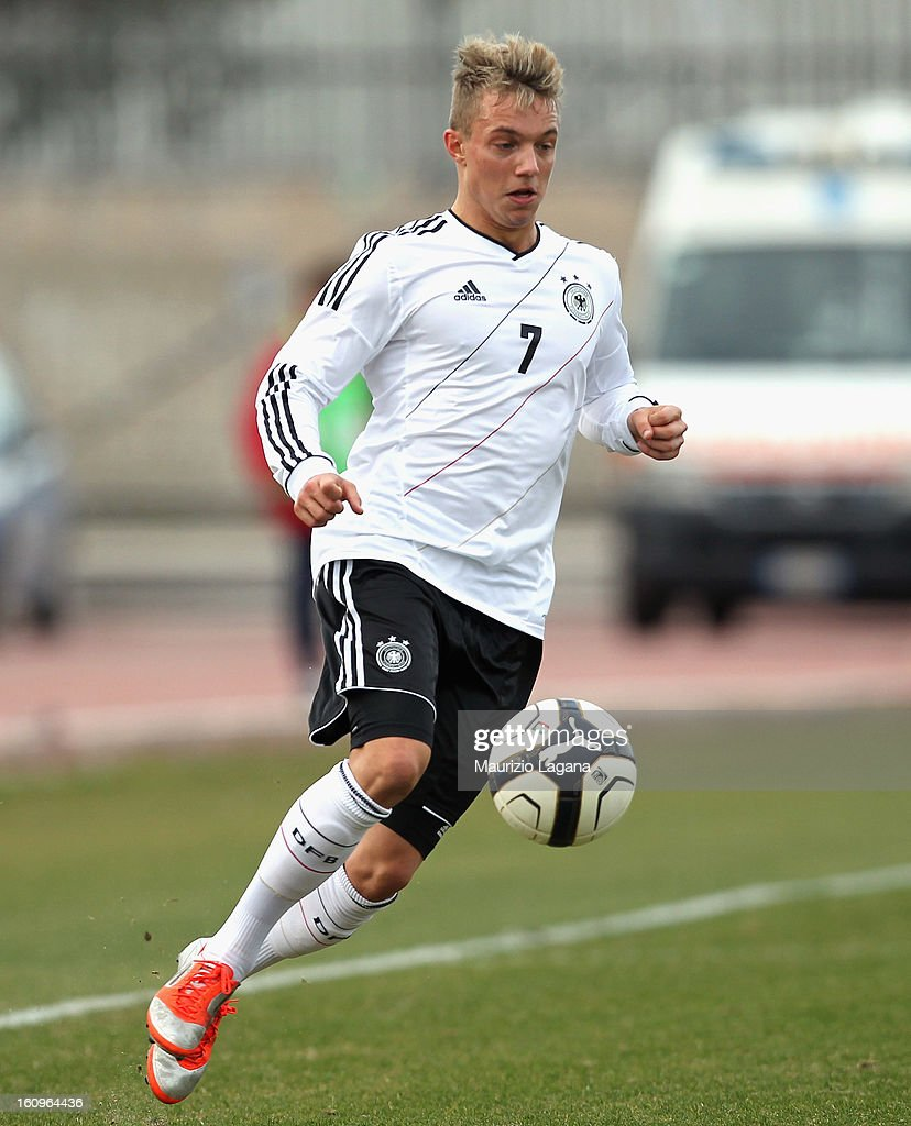 Sonny Kittel of Germany during U20 International Friendly match between Italy and Germany at Stadio Cosimo Puttilli on February 6, 2013 in Barletta, Italy.