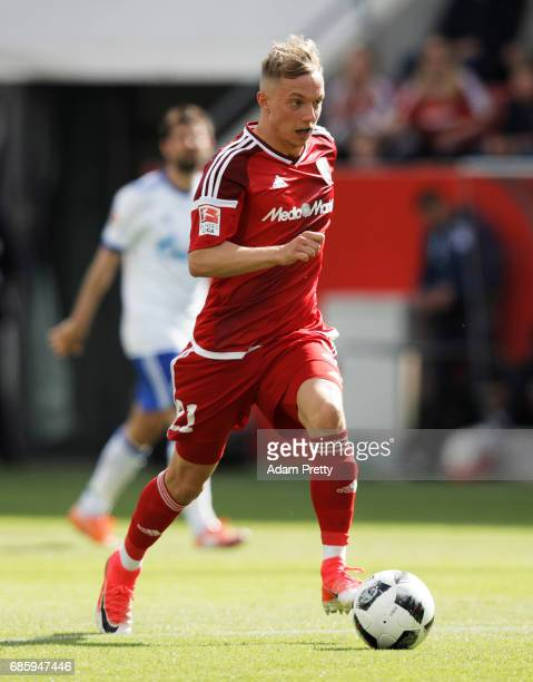 Sonny Kittel of Ingolstadt 04 in action during the Bundesliga match between FC Ingolstadt 04 and FC Schalke 04 at Audi Sportpark on May 20 2017 in...