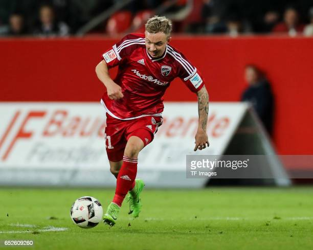 Sonny Kittel of Ingolstadt controls the ball during the Bundesliga match between FC Ingolstadt 04 and 1 FC Koeln at Audi Sportpark on March 11 2017...