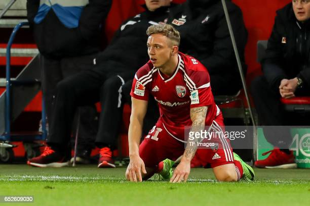 Sonny Kittel of Ingolstadt looks on during the Bundesliga match between FC Ingolstadt 04 and 1 FC Koeln at Audi Sportpark on March 11 2017 in...