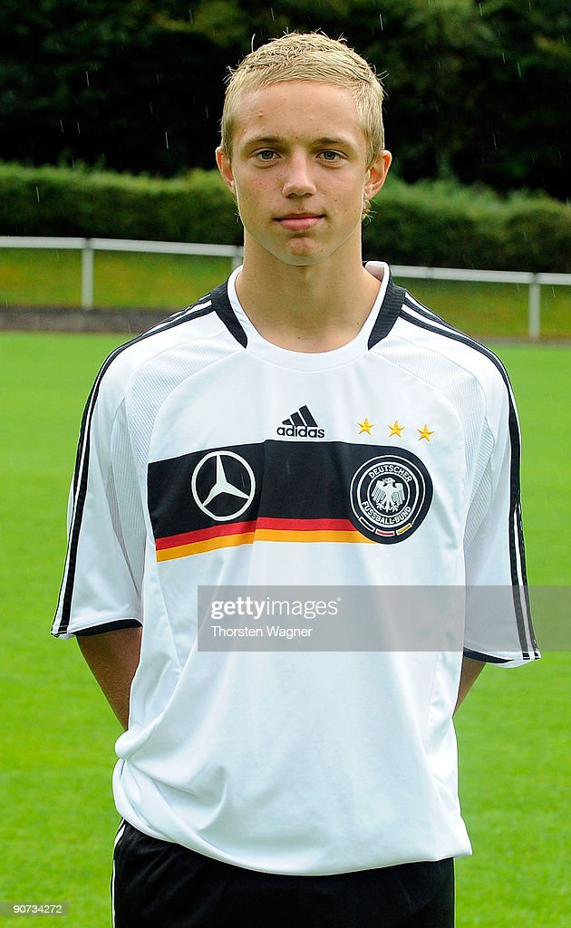 Sonny Kittel poses during the U17 Germany team presentation at the Sportschule on September 14, 2009 in Hennef, Germany.