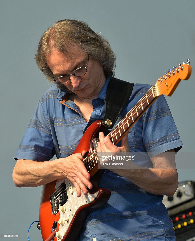 <a gi-track='captionPersonalityLinkClicked' href=/galleries/search?phrase=Sonny+Landreth&family=editorial&specificpeople=1296017 ng-click='$event.stopPropagation()'>Sonny Landreth</a> performs during the 2013 New Orleans Jazz & Heritage Music Festival presented by Shell at Fair Grounds Race Course on April 26, 2013 in New Orleans, Louisiana.