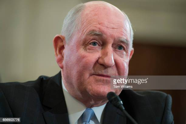 Sonny Perdue nominee for Secretary of Agriculture testifies during his Senate Agriculture Committee confirmation hearing in Russell Building March 23...
