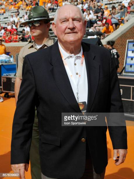 Sonny Perdue United States Secretary of Agriculture watches from the sidelines before the game between the Georgia Bulldogs and the Tennessee...