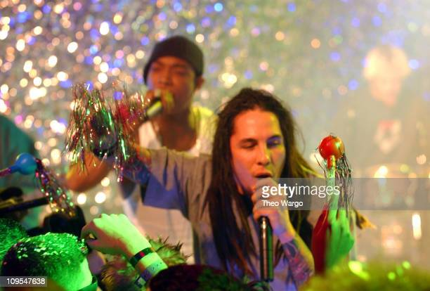 Sonny Sandoval of POD and Ja Rule during MTV 2002 New Year's Party Live from New York City's Times Square Show at MTV Studios in New York City New...