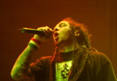 Sonny Sandoval of POD during POD Hoobastank and Story of The Year Perform at Linkin Park's Meteora World Tour 2004 New York at Nassau Coliseum in...