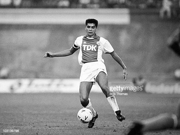 Sonny Silooy of Ajax Amsterdam in action against FC Porto during the Amsterdam Tournament on 9th August 1987 The match ended in a 11 draw