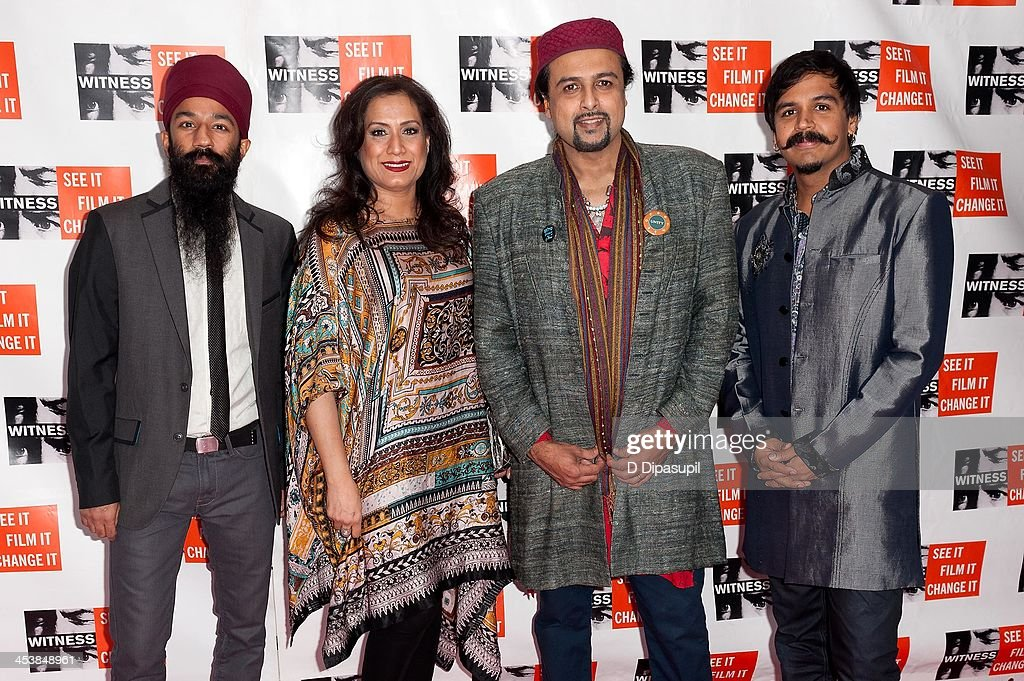 Sonny Singh, Samina Ahmed, Salman Ahmed, and Sunny Jain attend the 2013 Focus For Change gala benefiting WITNESS at Roseland Ballroom on December 5, 2013 in New York City.