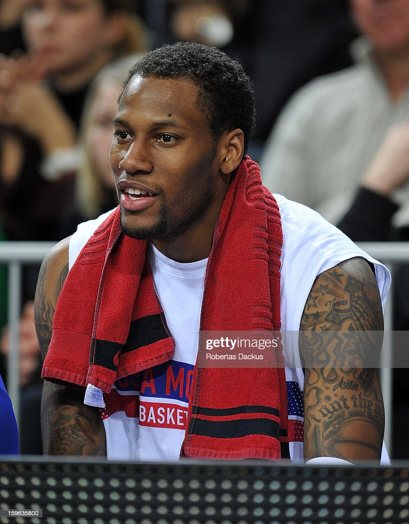 <a gi-track='captionPersonalityLinkClicked' href=/galleries/search?phrase=Sonny+Weems&family=editorial&specificpeople=4099569 ng-click='$event.stopPropagation()'>Sonny Weems</a>, #13 of CSKA Moscow in action during the 2012-2013 Turkish Airlines Euroleague Top 16 Date 4 between Zalgiris Kaunas v CSKA Moscow at Zalgiris Arena on January 17, 2013 in Kaunas, Lithuania.