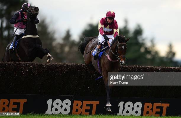 Sonoftheking ridden by Matt Griffiths jump the last ahead of Paddy the Oscar and Jockey Conor Ring to win the RGB Building Supplies Handicap Chase at...