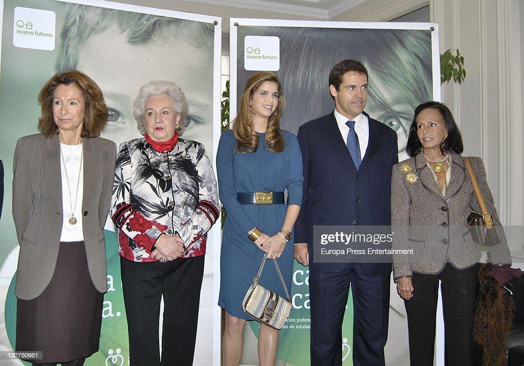 Sonsoles Diez de Rivera, Luis Alfonso de Borbon, Margarita Vargas and Princess Pilar de Borbon present 'Rastrillo Nuevo Futuro 2011' at Telefonica Store on November 14, 2011 in Madrid, Spain.