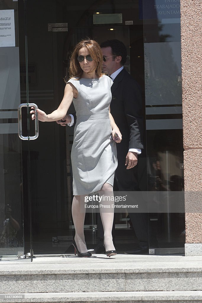 Sonsoles Suarez attends her wedding to Paulo Wilson on May 18, 2012 in Pozuelo de Alarcon, Spain.