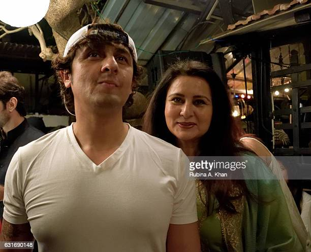 Sonu Nigam and Poonam Dhillon at JashneKaifi an evening of music and poetry celebrating the legendary Urdu poet Kaifi Azmi's 98th birth anniversary...