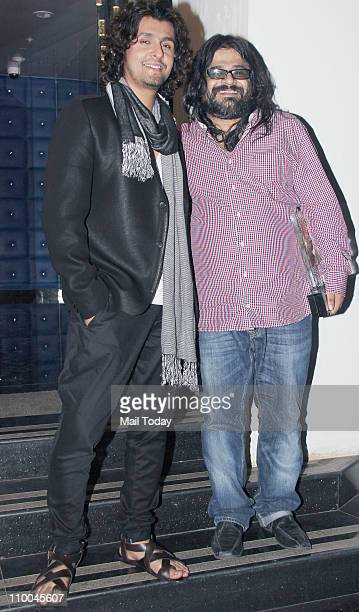 Sonu Nigam and Pritam Chakraborty at Big Star Indian Music Academy Awards 2011 in Mumbai