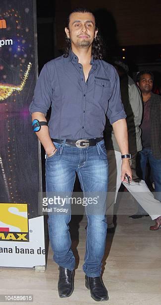 Sonu Nigam at a special screening of the film Anjaana Anjaani in Mumbai on September 30 2010