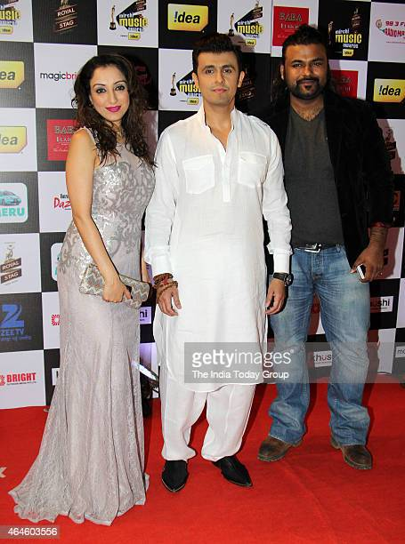 Sonu Nigam at Mirchi music awards in Mumbai