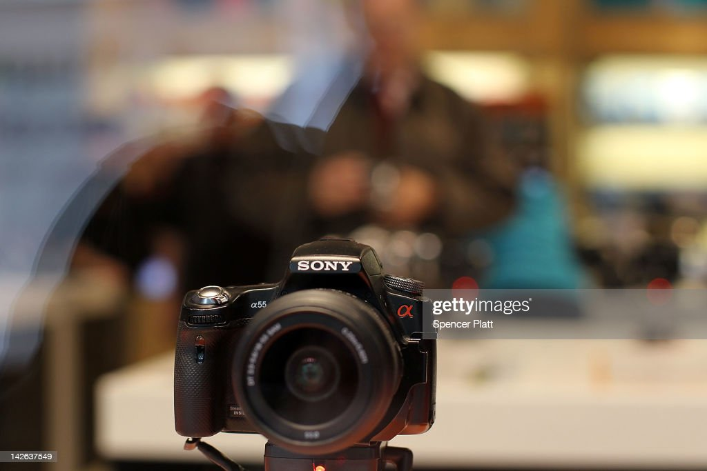S Sony camera is viewed at the Sony store on April 10, 2012 in New York City. Sony, the Japanese electronics company, has more than doubled its projected net loss for the past financial year to ´520 billion, the equivalent to $6.4 billion, its worst loss ever.