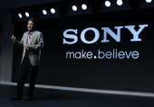 Sony CEO Kazuo Hirai speaks during a Sony press conference at the 2013 International CES at the Las Vegas Convention Center on January 7 2013 in Las...