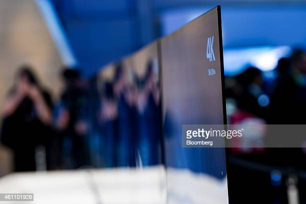 A Sony Corp 4K ultra thin television sits on display during the 2015 Consumer Electronics Show in Las Vegas Nevada US on Tuesday Jan 6 2015 All of...