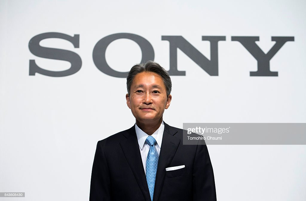 Sony Corp. CEO <a gi-track='captionPersonalityLinkClicked' href=/galleries/search?phrase=Kazuo+Hirai&family=editorial&specificpeople=2377874 ng-click='$event.stopPropagation()'>Kazuo Hirai</a> attends a press conference on June 29, 2016 in Tokyo, Japan. Sony announced its mid-range business strategy plan from FY2015 through 2017 today.