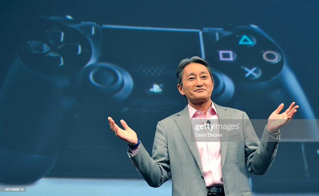 Sony Corp. President and CEO <a gi-track='captionPersonalityLinkClicked' href=/galleries/search?phrase=Kazuo+Hirai&family=editorial&specificpeople=2377874 ng-click='$event.stopPropagation()'>Kazuo Hirai</a> speaks at a press event at the Las Vegas Convention Center for the 2015 International CES on January 5, 2015 in Las Vegas, Nevada. CES, the world's largest annual consumer technology trade show, runs from January 6-9 and is expected to feature 3,600 exhibitors showing off their latest products and services to about 150,000 attendees.