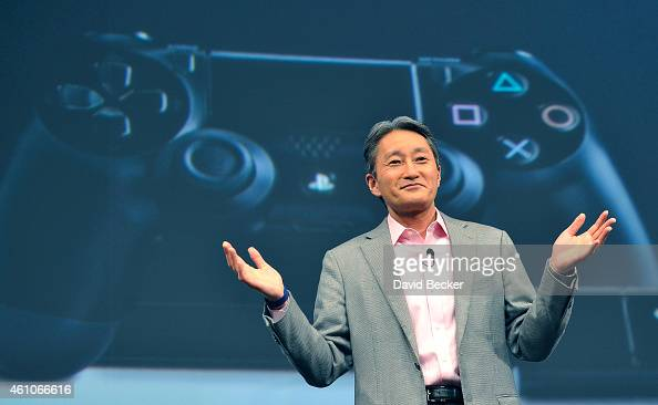 Sony Corp President and CEO Kazuo Hirai speaks at a press event at the Las Vegas Convention Center for the 2015 International CES on January 5 2015...