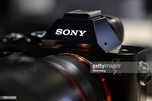 Sony Corp's A7R mirrorless digital camera is displayed at an unveiling in Tokyo Japan on Wednesday Oct 16 2013 Sony which is expected to post a 23...