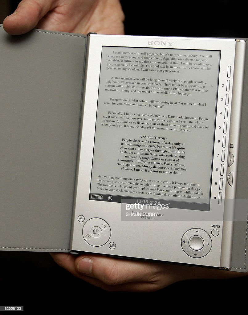 A Sony 'ebook' Electronic Book Is Pictured At A Waterstones Book Store