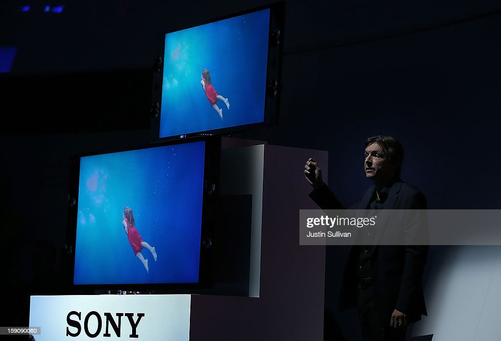 Sony Electronics President and COO Phil Molyneux announces two new Sony Bravia televisions during a Sony press conference at the 2013 International CES at the Las Vegas Convention Center on January 7, 2013 in Las Vegas, Nevada. CES, the world's largest annual consumer technology trade show, runs from January 8-11 and is expected to feature 3,100 exhibitors showing off their latest products and services to about 150,000 attendees.