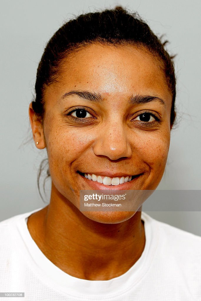 Sony Ericsson WTA Tour player Raquel Kops Jones poses for a headshot at Roland Garros on May 22, 2010 in Paris, France.