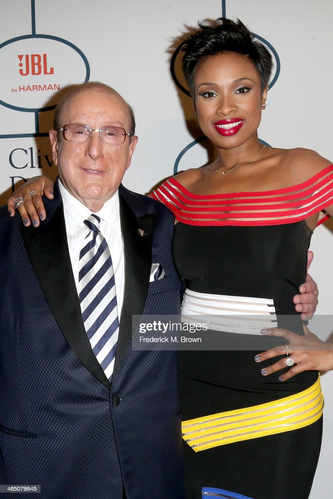 Sony Music Chief Creative Officer <a gi-track='captionPersonalityLinkClicked' href=/galleries/search?phrase=Clive+Davis&family=editorial&specificpeople=209314 ng-click='$event.stopPropagation()'>Clive Davis</a> (L) and recording artist <a gi-track='captionPersonalityLinkClicked' href=/galleries/search?phrase=Jennifer+Hudson&family=editorial&specificpeople=234833 ng-click='$event.stopPropagation()'>Jennifer Hudson</a> attend the 56th annual GRAMMY Awards Pre-GRAMMY Gala and Salute to Industry Icons honoring Lucian Grainge at The Beverly Hilton on January 25, 2014 in Beverly Hills, California.