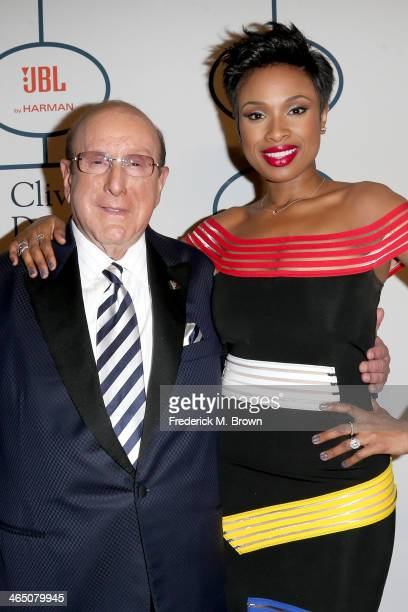 Sony Music Chief Creative Officer Clive Davis and recording artist Jennifer Hudson attend the 56th annual GRAMMY Awards PreGRAMMY Gala and Salute to...